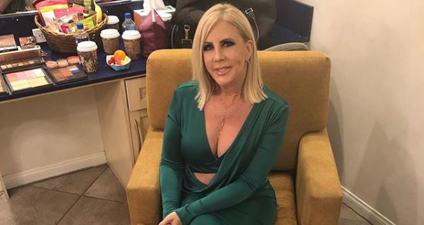 Vicki Gunvalson in green dress from Instagram