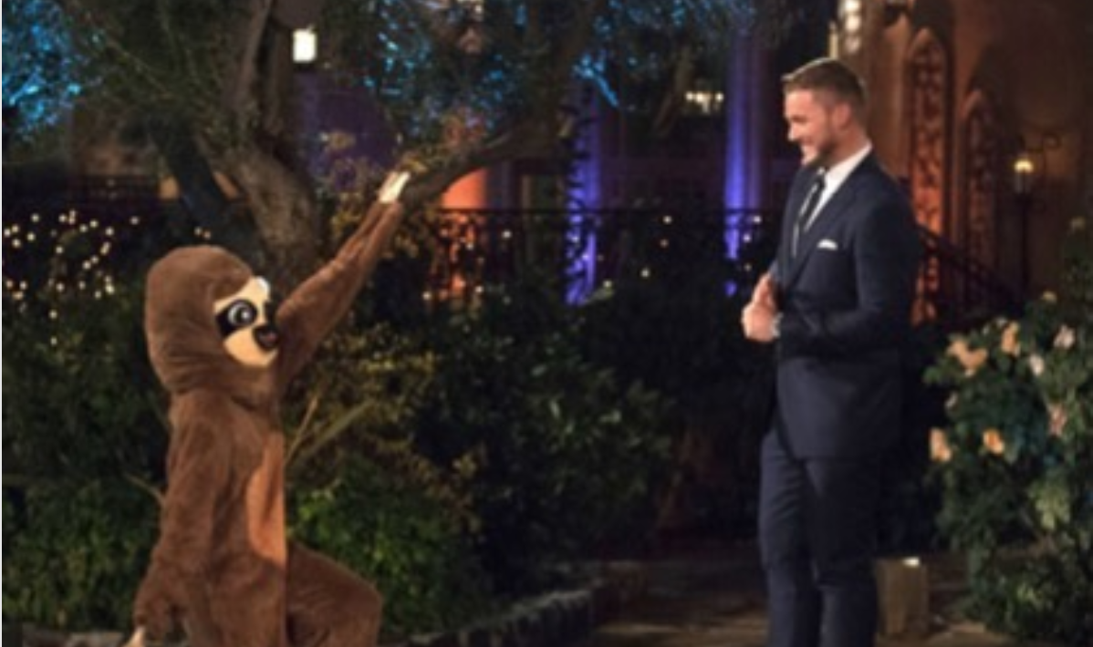 Sloth Girl on The Bachelor from Instagram