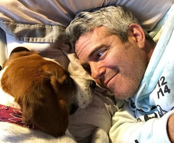 Andy Cohen with his dog