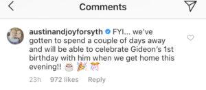 Joy Duggar Instagram