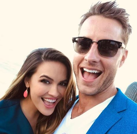 Justin Hartley with his wife from Instagram