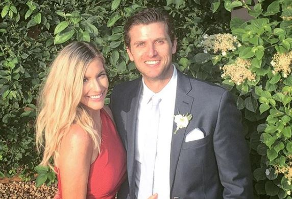Whitney Bischoff with her husband from Instagram
