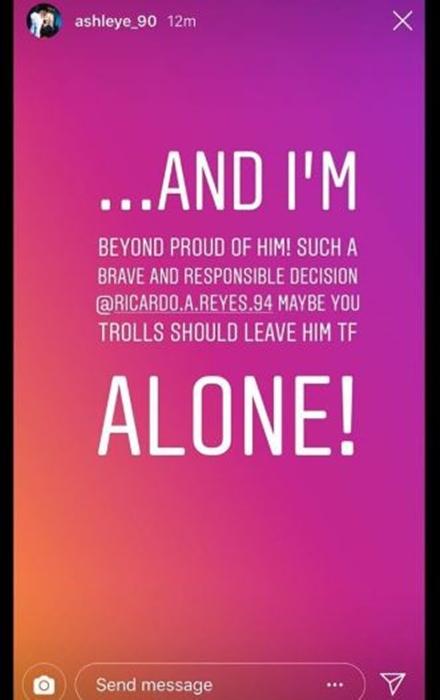 Ashley Martson Instagram Story