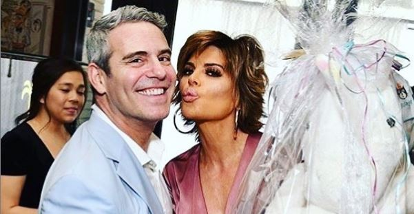 Lisa Rinna with Andy Cohen Instagram