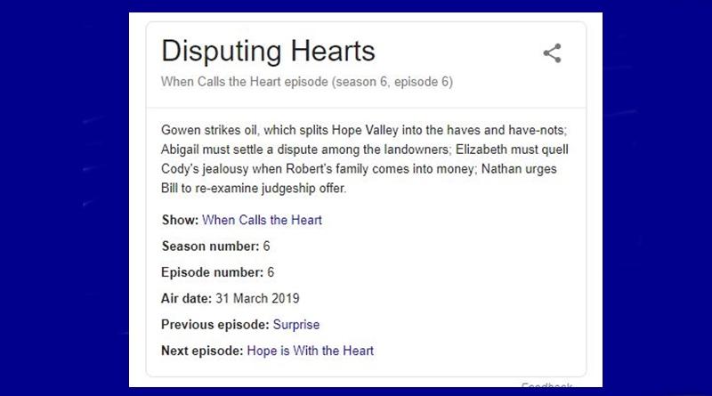 When Calls the Heart season 6 ep 6