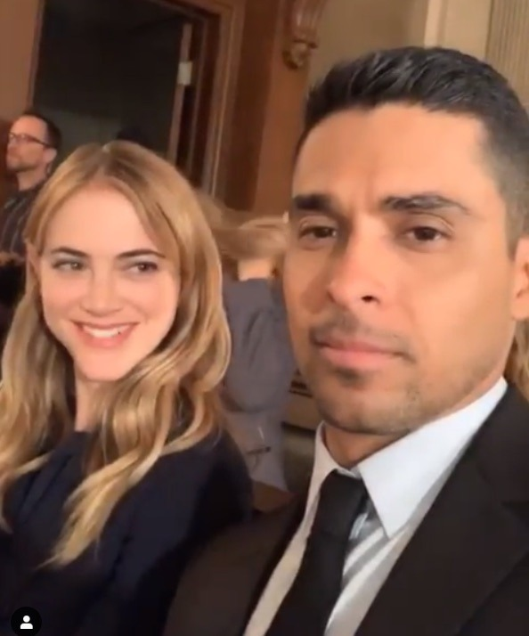 Emily Wickersham, Eleanor Bishop, Wilmer Valderrama, Nick Torres, NCIS-https-//www.instagram.com/p/BvSGdtKDj6L/