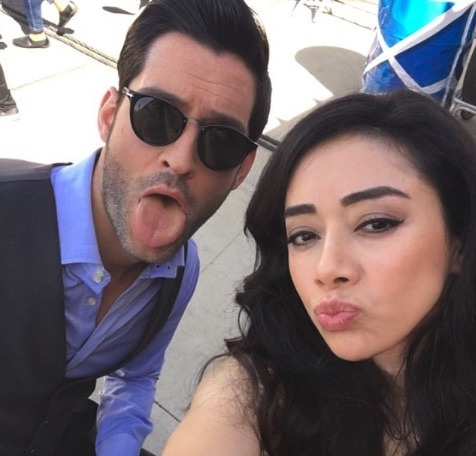 Tom Ellis, Lucifer Morningstar, Aimee Garcia, Ella Lopez, Lucifer-https://www.instagram.com/p/BhZenZiHHxe/