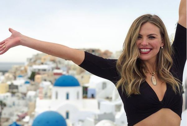 Hannah B in Greece from Instagram The Bachelorette