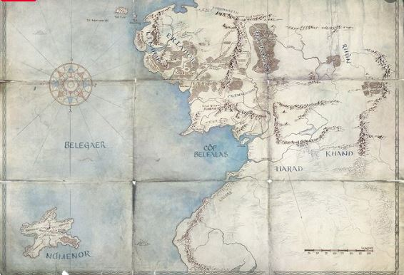 Lord of the Rings Map from Twitter