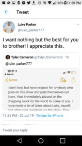 Luke P Bachelorette Tweet Response