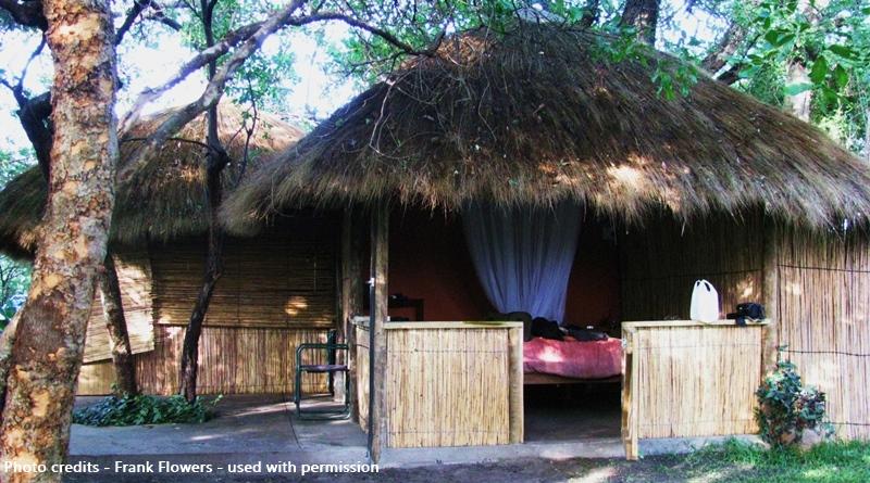Namibia Caprivi Strip Ngepi Camp bush hut