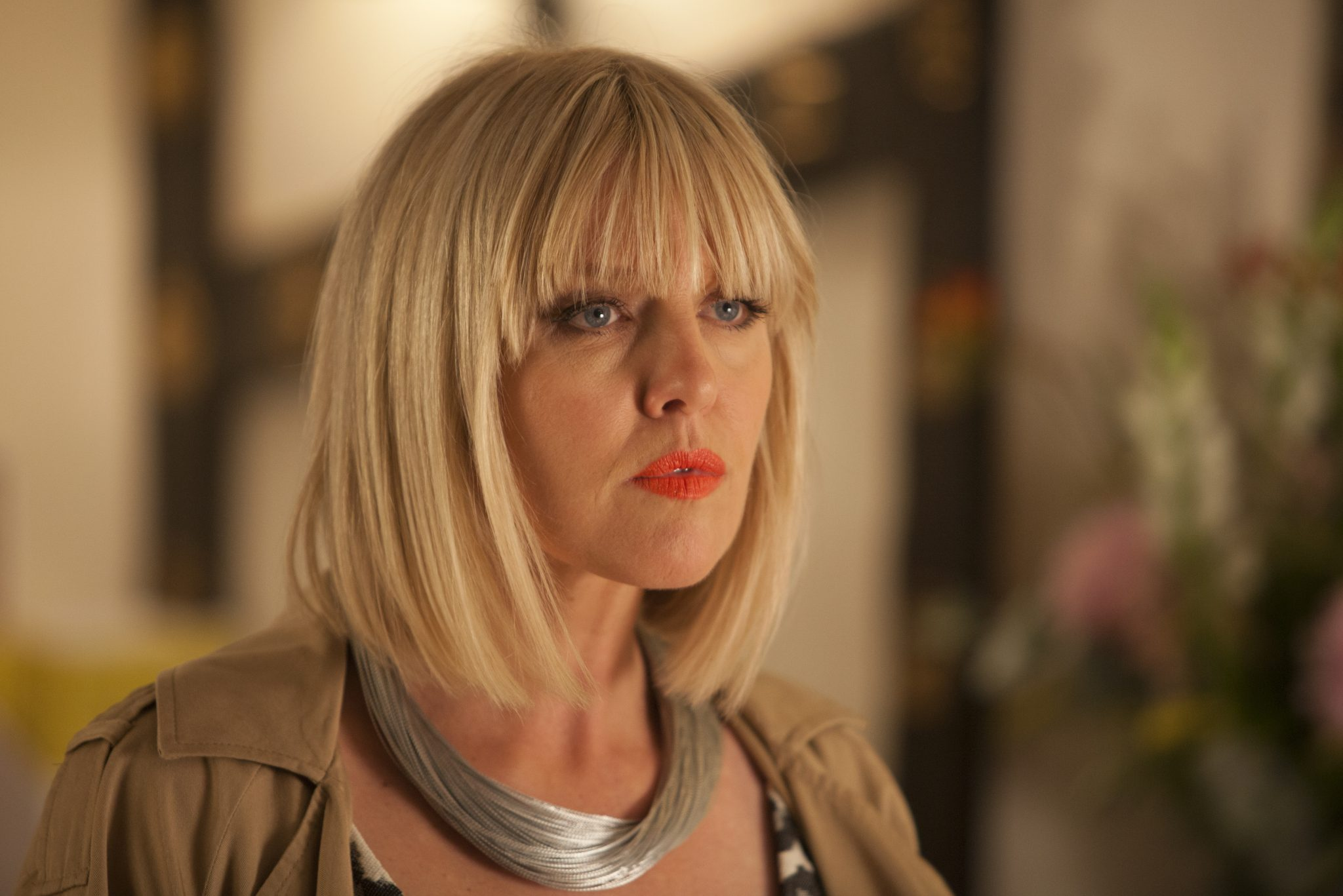 "Agatha Raisin Series 1, Episode 1 ""The Walkers of Dembley"" Sky 1 Ashley Jenson as Agatha Raisin-Photo permission from Acorn TV"