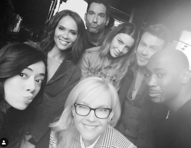 Lucifer cast, Netflix-https://www.instagram.com/p/BxOQzqIFq2i/