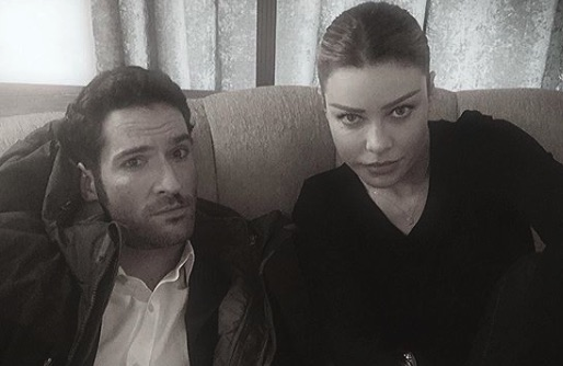 Tom Ellis, Lucifer Morningstar, Lauren German, Chloe Decker, Lucifer-https://www.instagram.com/p/Bx77Q0hjG6U/
