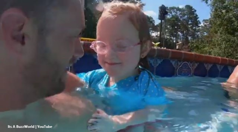 OutDaughtered Hazel learns to swim