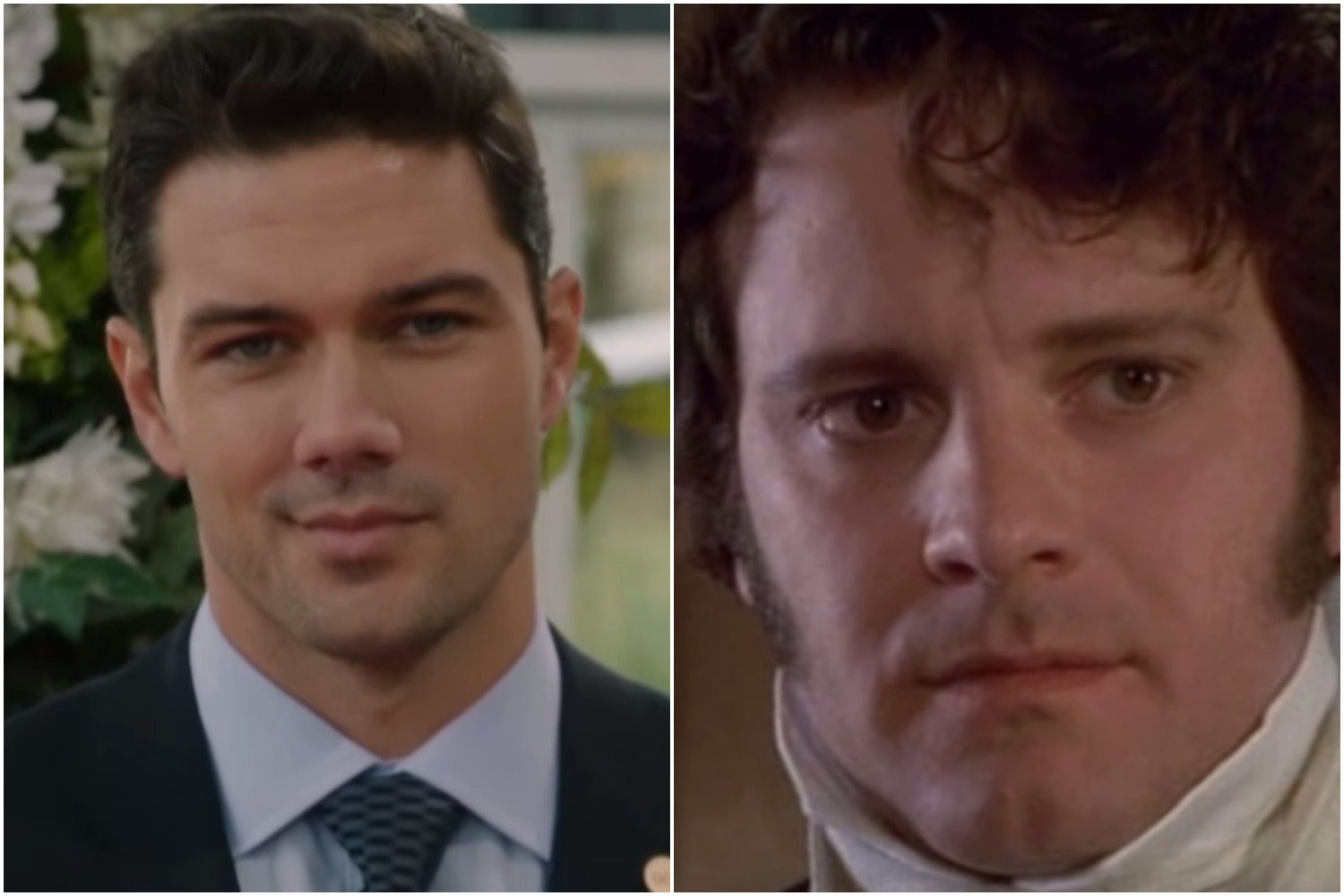 Ryan Paevey, Donovan Darcy, Unleashing Mr. Darcy-https://www.youtube.com/watch?v=aT0o_k54Y6M, Colin Firth, Darcy, Pride and Prejudice-https://www.youtube.com/watch?v=JF3ueHjUc3k