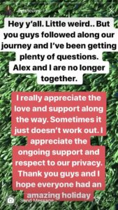 Alex and Dylan Love Island Instagram