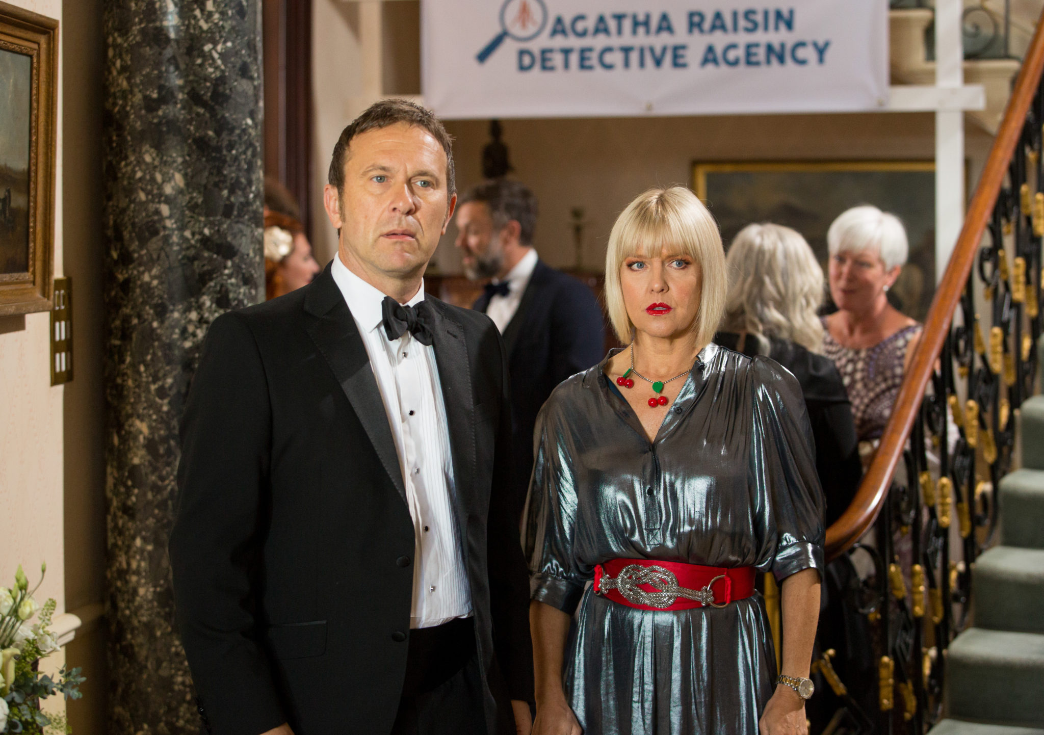 Agatha Raisin Love From Hell on Acorn TV_Ashley Jensen and Jason Merrells_G3A3244-Photo With Permission from Acorn TV