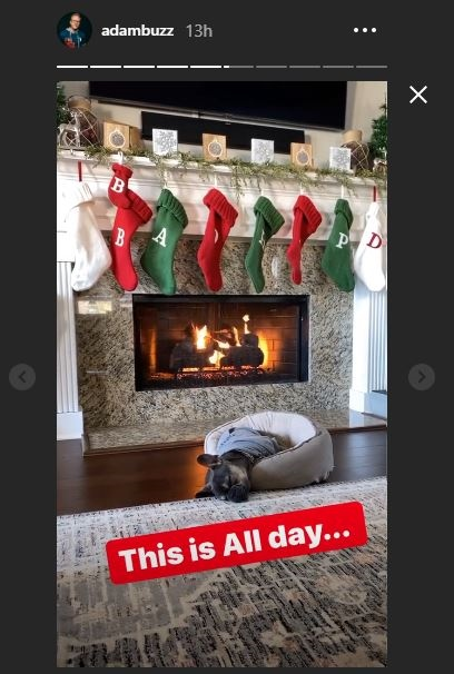 OutDaughtered Beau by the fire