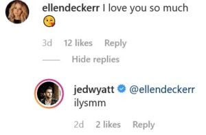 Bachelorette Jed Wyatt Ellen Decker Instagram Screenshot