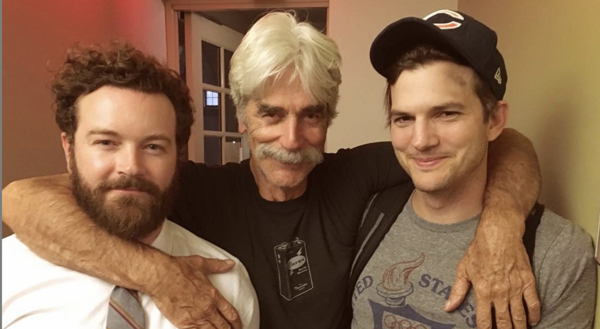 Danny Masterson, Rooster, Beau, Ashton Kutcher, Colt, The Ranch-https://www.instagram.com/p/BKMM-gHheXj/Sam Elliott,