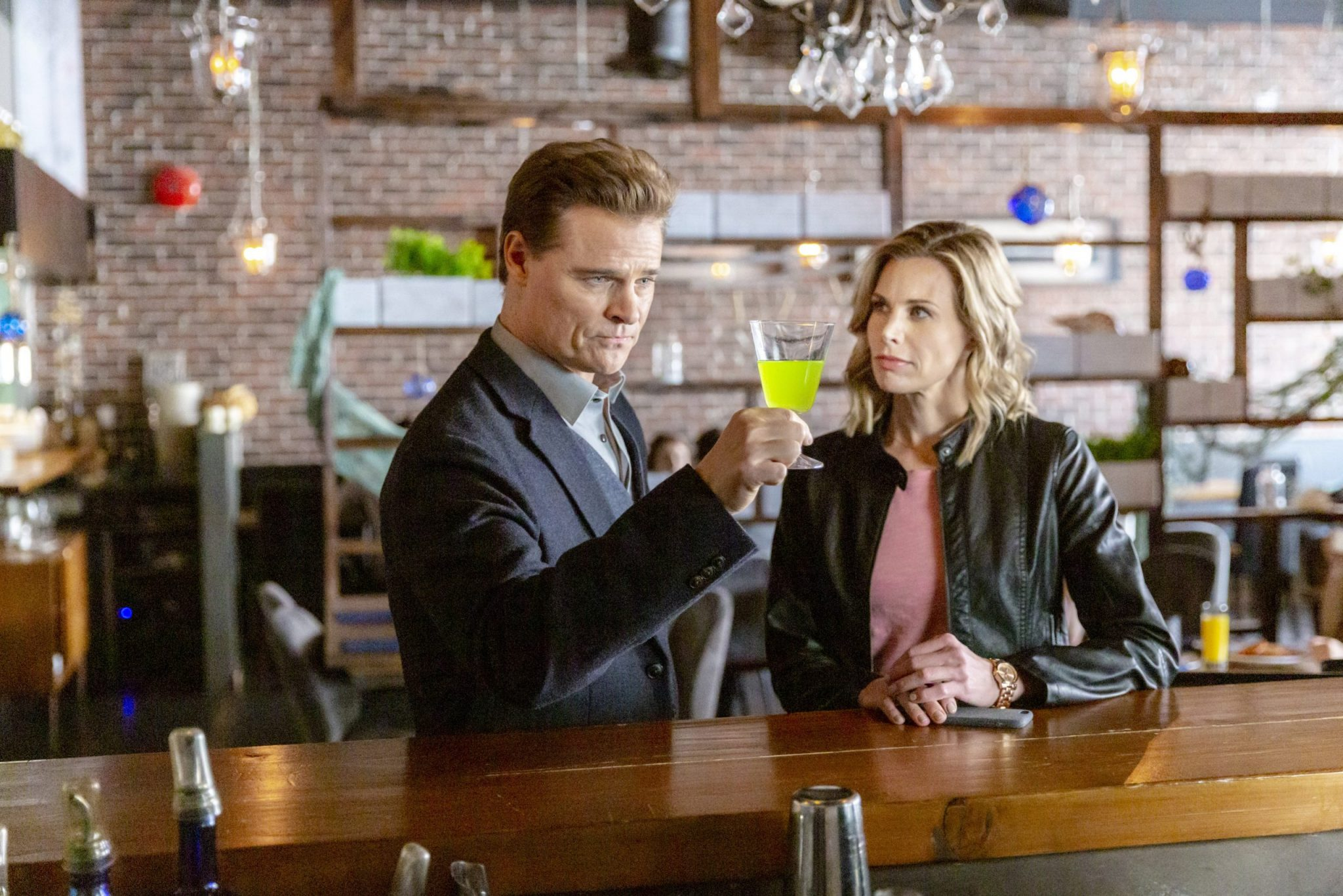 Gourmet Detective: Roux The Day, Photo: Dylan Neal, Brooke Burns Credit: ©2019 Crown Media United States LLC/Photographer:Ryan Plummer