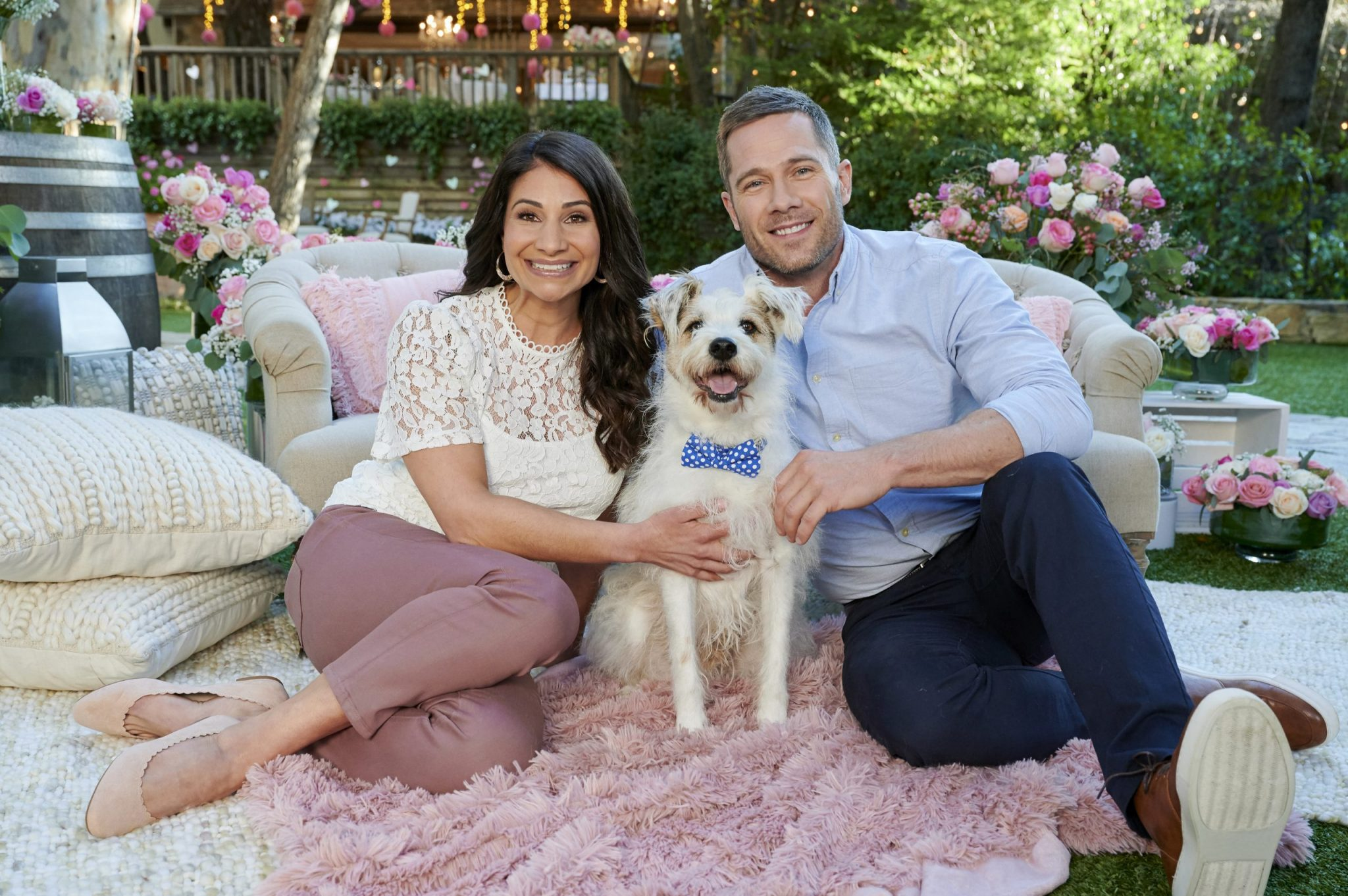 Hallmark Photo: Larissa Wohl, Luke Macfarlane Credit: ©2020 Crown Media United States LLC/Photographer: Alexx Henry/Alexx Henry Studios, LLC