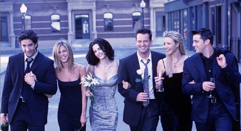 david schwimmer and the cast of friends