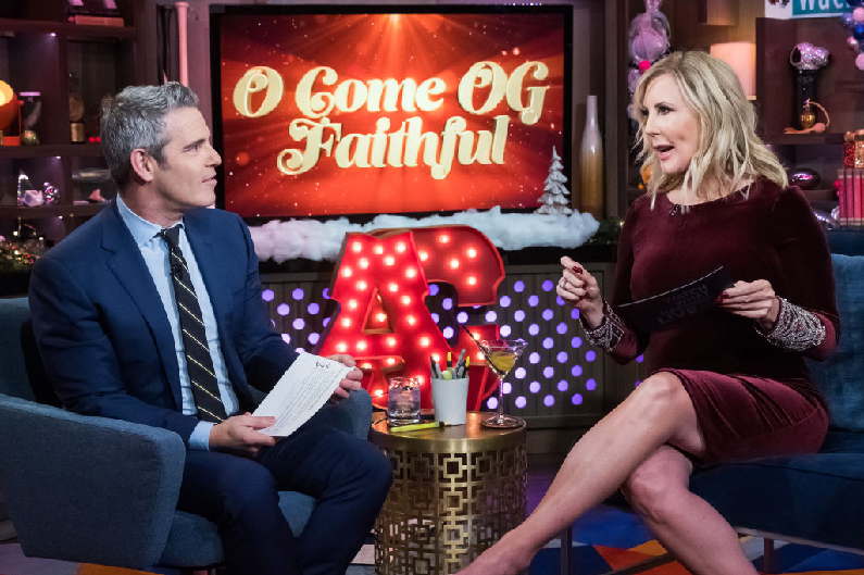vicki gunvalson and andy cohen on wwhl
