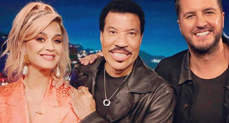 katy perry, lionel richie, and luke bryan