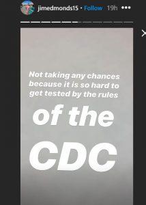RHOC Jim Edmonds CDC Guidelines Instagram Screenshot