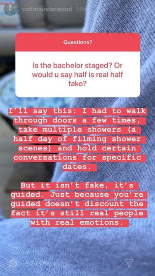 The bachelor Colton Underwood Not Fake