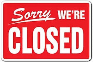VPR Sorry We're Closed Sign Instagram