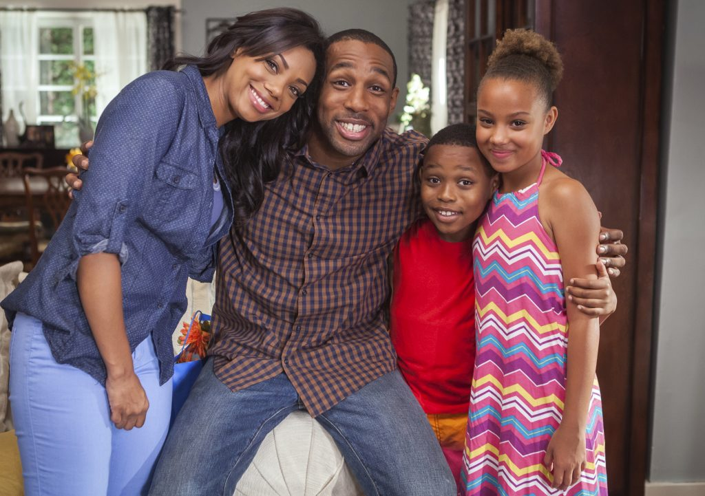 Adventures in Love and Babysitting, Hallmark, Photo: Tiffany Hines, Stephen Boss, Corinne Massiah, Brian Mganga Credit: ©2020 Crown Media United States LLC/Photographer: Courtesy Larry Levinson Productions