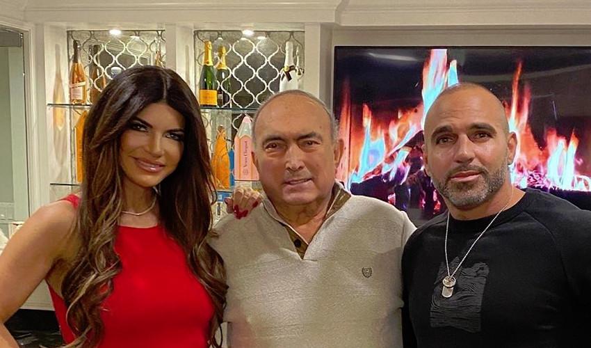 RHONJ Teresa Giudice with dad and Joe Gorga Instagram