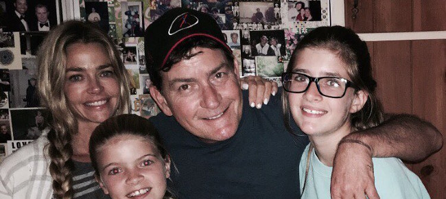 RHOBH Denise Richards, Charlie Sheen and daughters Instagram