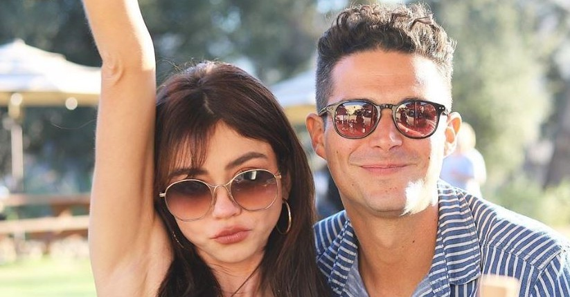 Sarah Hyland and fiance Wells Adams via Instagram