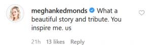 Christian Schauf Instagram Screenshot of RHOC star comment