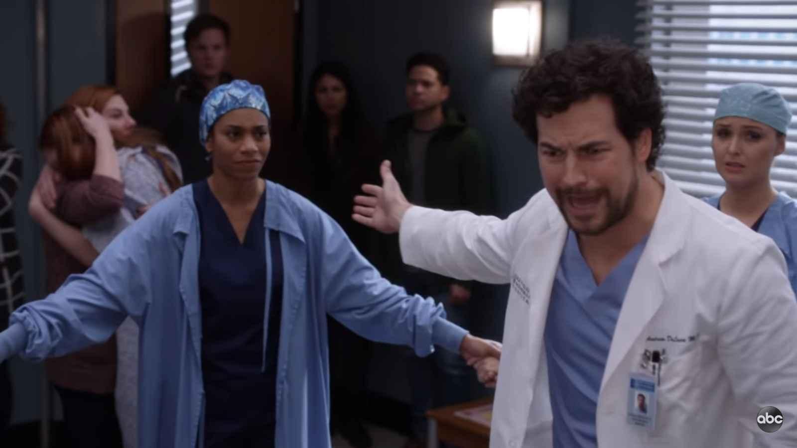 Giacomo Gianniotti as DeLuca on Grey's Anatomy on ABC
