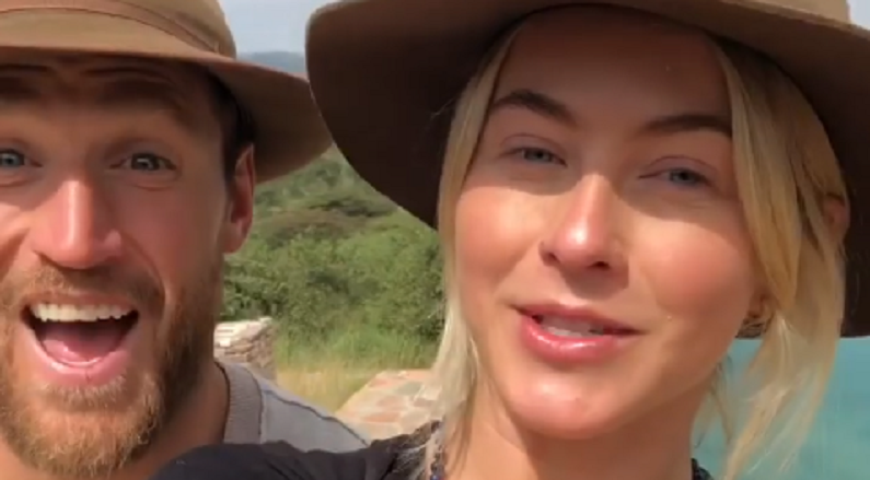 julianne hough with brooks laich in instagram clip