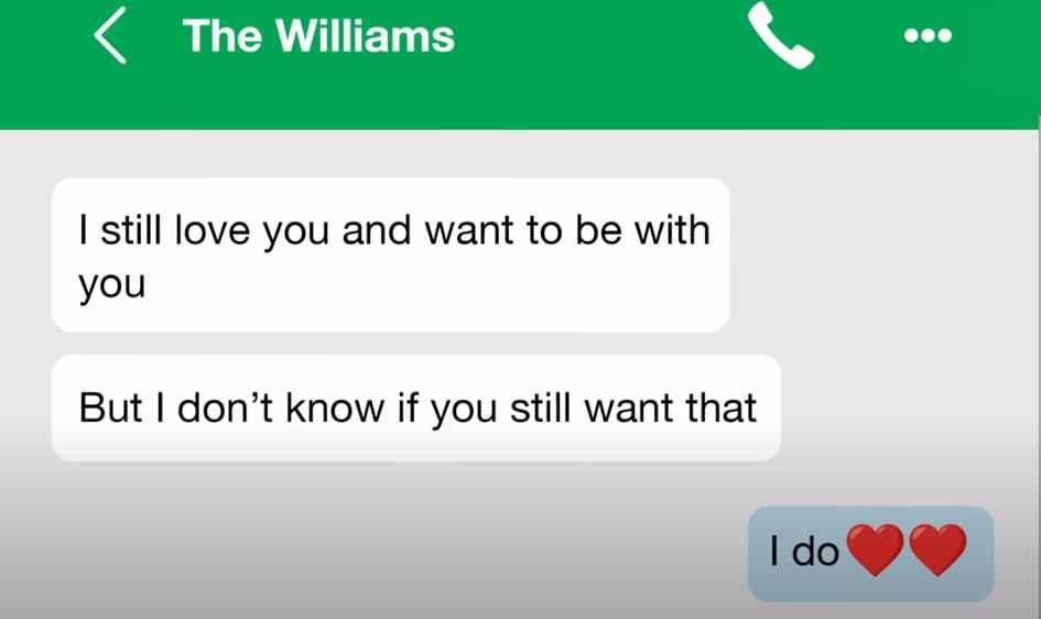 90 Day Fiancé Yolanda texts with Williams