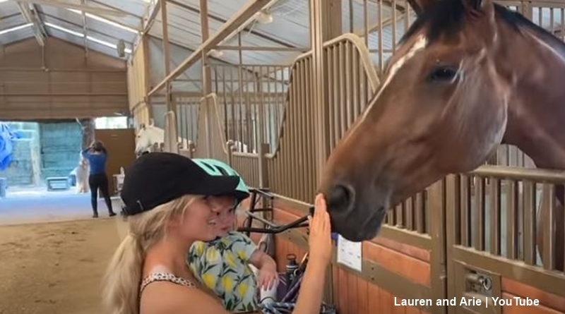 Bachelor Arie Luyendyk daughter alessi and a horse