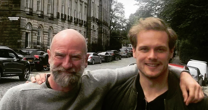 Outlander Sam Heughan and Graham McTavish Instagram
