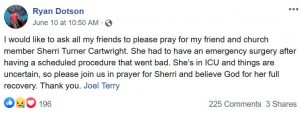 VPR Pastor Facebook Screenshot