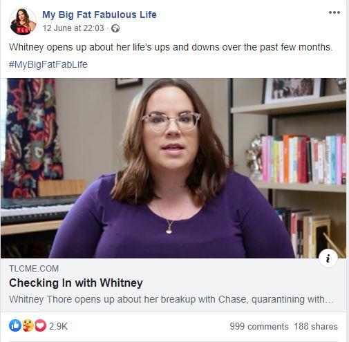 Whitney way thore my big fat fabulous life