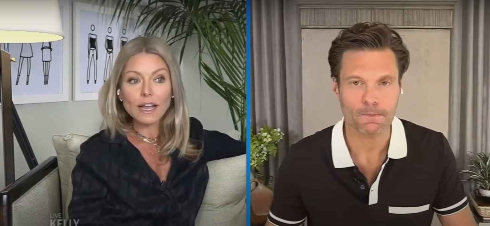 Kelly Ripa and Ryan Seacrest of Live with Kelly and Ryan