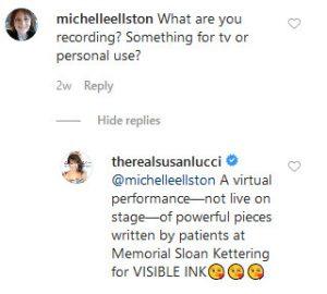 All My Children Susan Lucci Instagram Comment Screenshot