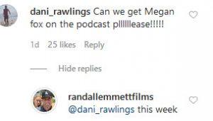VPR Randall Emmett Instagram Comment Screenshot