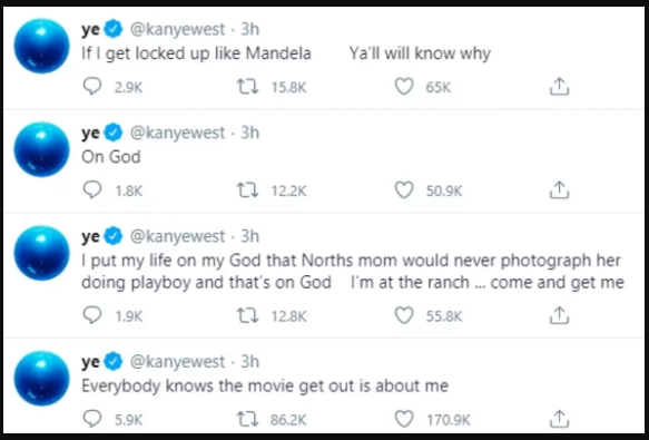 Kanye West Twitter Posts SS