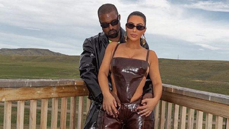 kim kardashian and kanye west instagram post